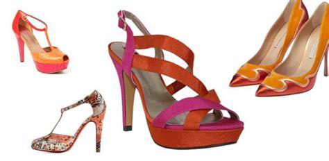 cabecera zapatos zapatos de madrina naranjas