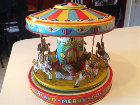 Wind It Up It Go vintage j chein playland merry go mechanical wind