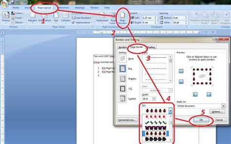 cara membuat penomoran halaman pada ms word 2010 cara membuat bingkai halaman di microsoft word 2010