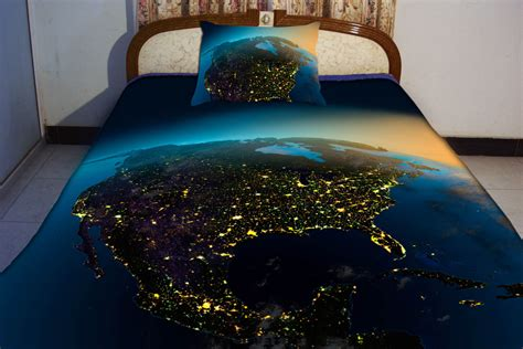 map comforter north america night vision map duvet cover us map by tbedding
