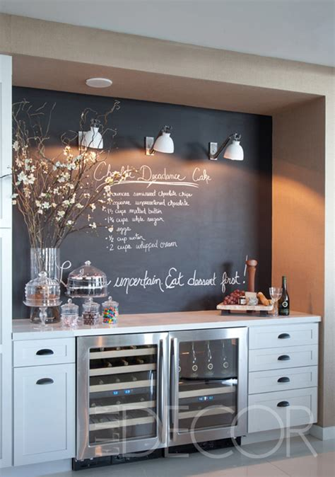 chalkboard kitchen wall ideas twoinspiredesign two friends two design perspectives