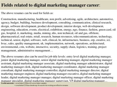 top 5 digital marketing manager cover letter sles