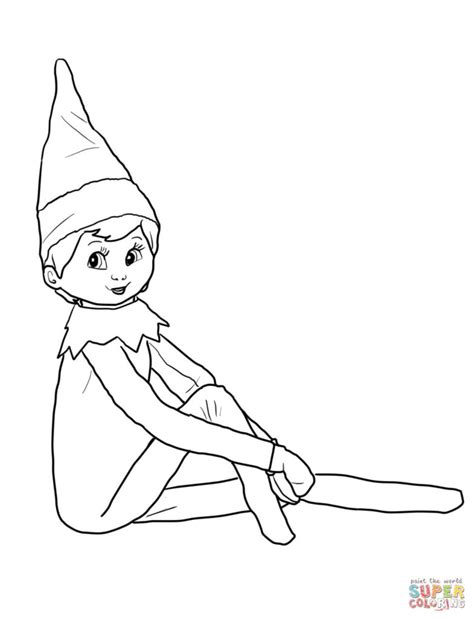 coloring pages on the shelf coloring pages free
