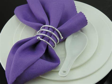 simple metal silver coil napkin rings