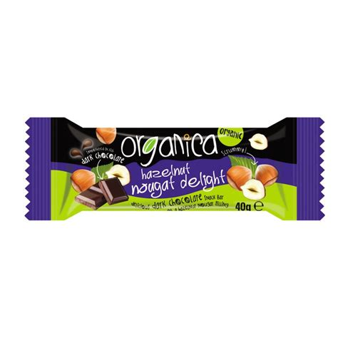 Organica Chocolate Includes Vegan Bars by Organica Hazelnut Nougat Vegan Chocolate Bar 40g