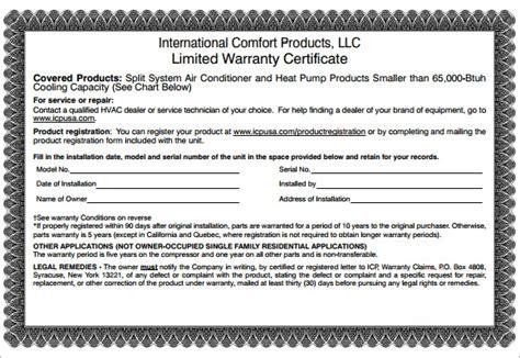 sample warranty certificate templates psd
