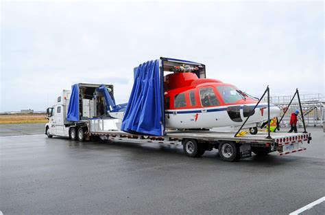 with trailer helicopter transport trailers helicopter trucking