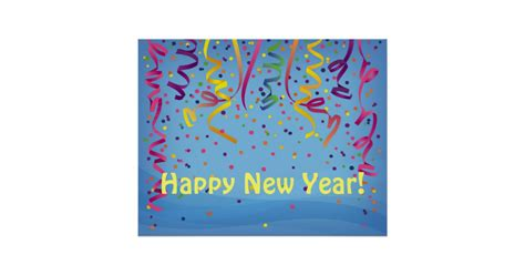 new year banner sparklebox happy new year birthday confetti banner poster zazzle