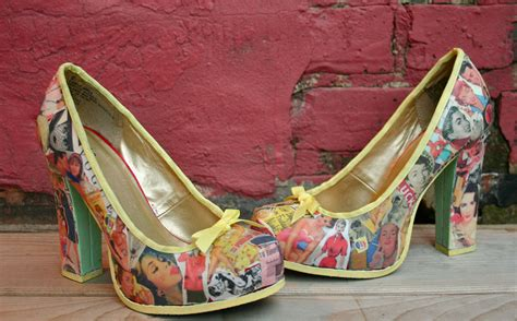Decoupage Shoes - diy decoupage vintage vibes heel lilbo gnomie