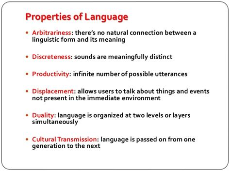 duality of pattern language introduction to linguistics a quick review