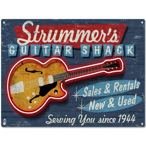 stanley s gift card shop vintage home decor christmas strummers guitar shack music shop metal sign vintage style