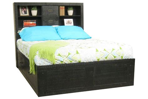 captains bed full black full captains bed at gardner white