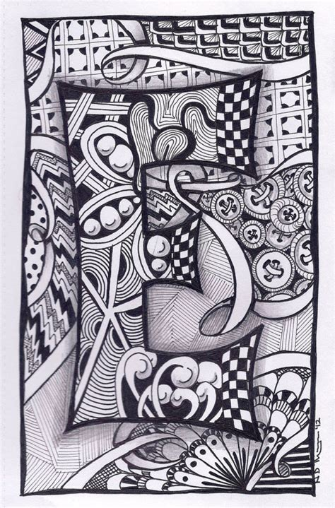 doodle name m items similar to zentangle letter e zebra letters name