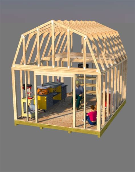 out building designs build this awesome 12x16 barn style shed that has a ton of