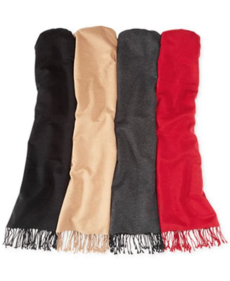 club room solid silk scarf hats gloves scarves