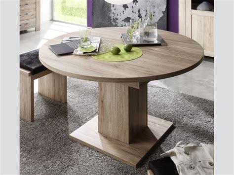 Bench Dining Room Table Set ausziehtisch esszimmertisch rund 104 cm eiche s 228 gerau