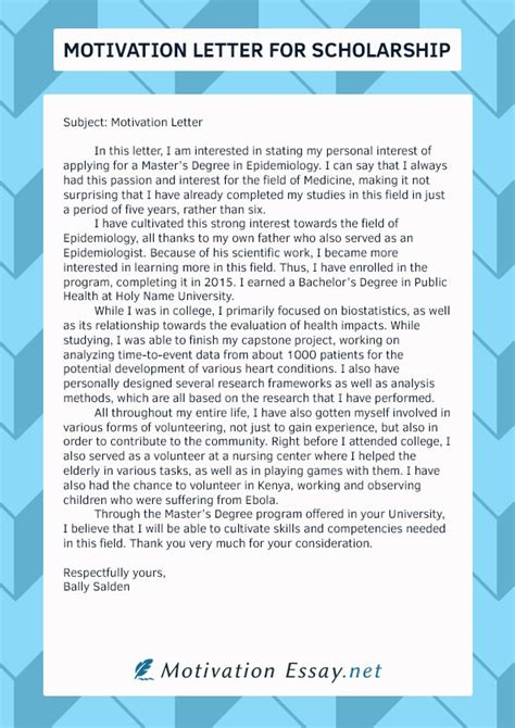 write   scholarship motivation letter quora