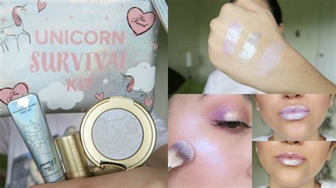 Lipstick Survival Kit swatches review unicorn survival kit