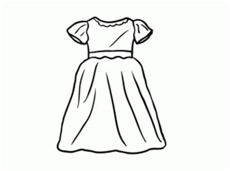 imagenes para colorear vestido vestidos para colorear