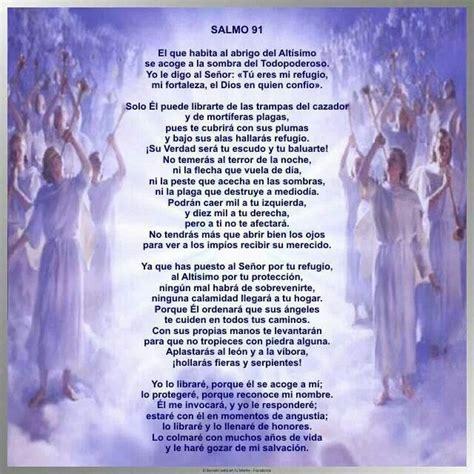 salmo 91 en espanol salmo 91 biblia pinterest