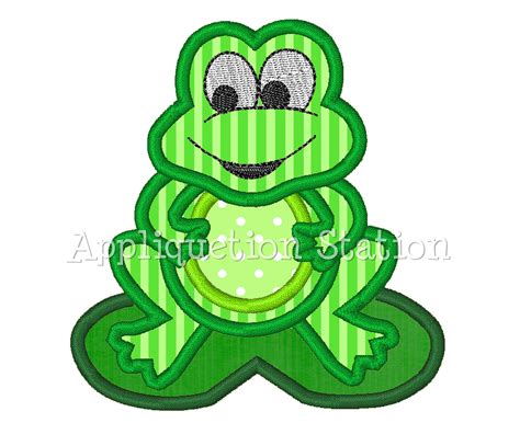 embroidery design tube free download frog applique machine embroidery design lilypad cute boy green