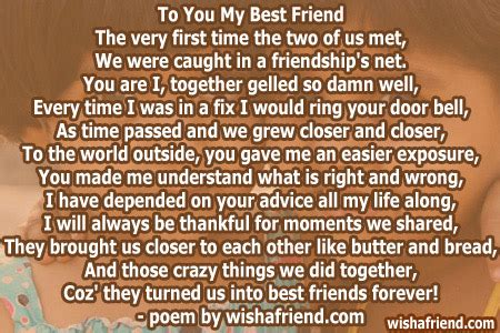 poems for your best friend to you my best friend poem for best friends