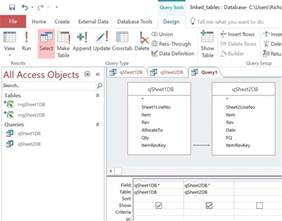 using excel with a database