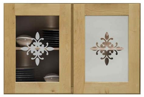 Etched Glass Designs For Kitchen Cabinets by Elegant Etched Decorative Glass Cabinet Inserts Sans