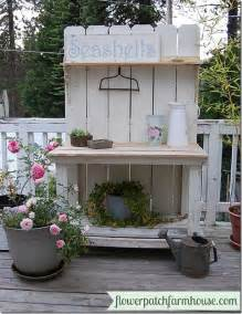 white potting bench potting benches succulents garden upcycling satori