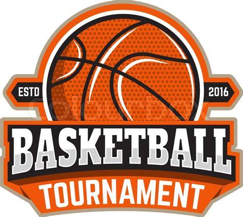 Basketball Tournament Emblem Template Stock Vector Colourbox Basketball Team Logo Template