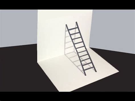 how to make 3d illusion l how to draw 3d ladder optical illusion quot 3d ladder