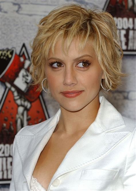 brittany murphy with blonde hair versatility of medium length haircut august 2012