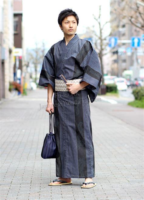 Baju Kimono Stripe by Japon Kimono Fabricant Gros Unifrom Gris Brun Blanc