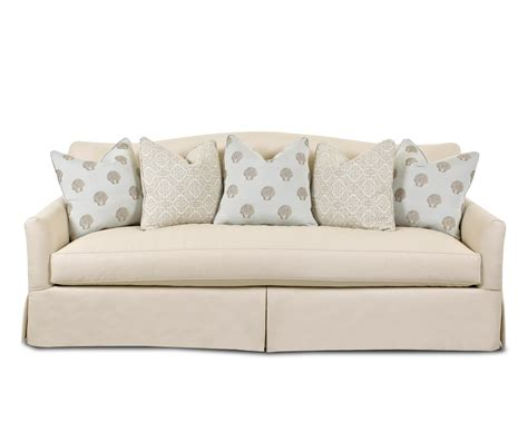 transitional stationary sofa with bench seat