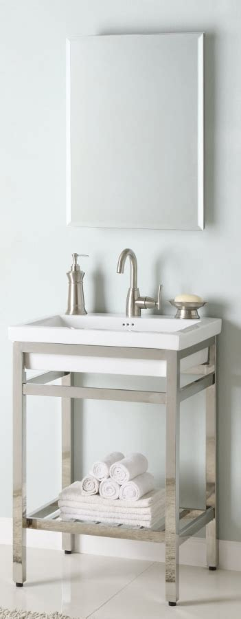 metal vanities for bathrooms 24 inch single sink console bathroom vanity with choice of