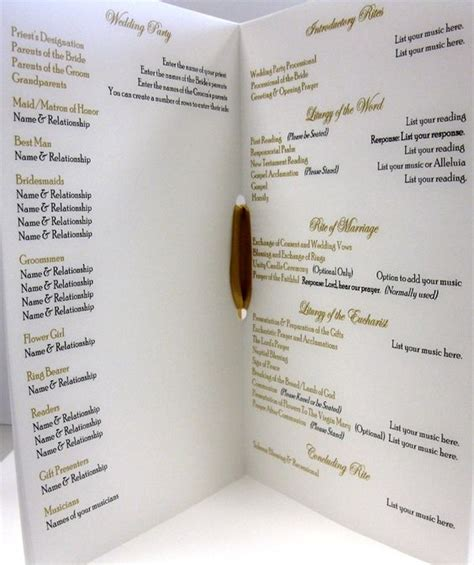 catholic mass wedding program template traditional catholic wedding and wedding on