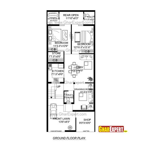 Second Empire Floor Plans house plan for 24 feet by 60 feet plot plot size160