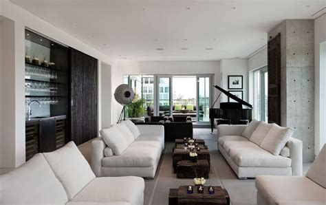 yorkville home design center sofas coffee table exposed concrete yorkville penthouse