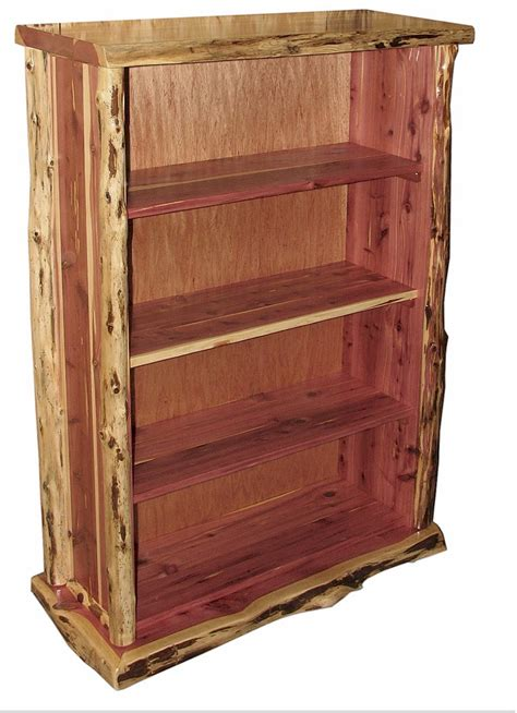 cedar log bookcase the log furniture store