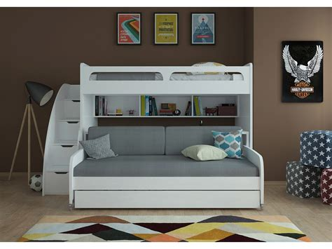 Xl Bunk Bed With Desk xl bunk bed with sofa desk and trundle bel
