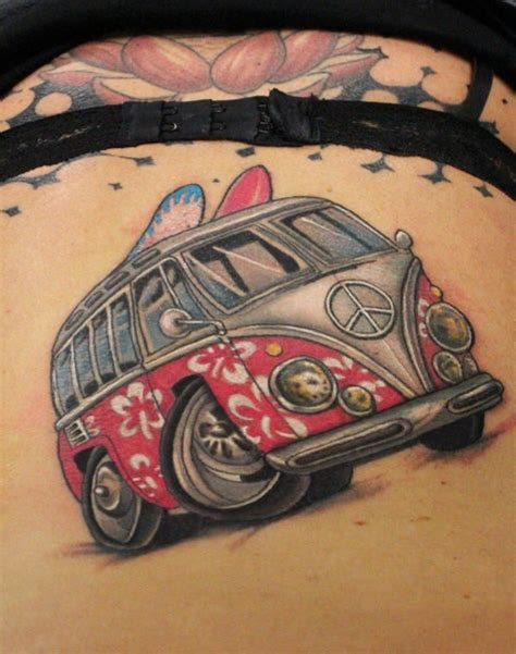 volkswagen bus tattoo google search tattoo vw tattoo tattoos beetle tattoo