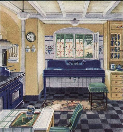 1930s home interiors 1930s kitchen with farm house sink home decor