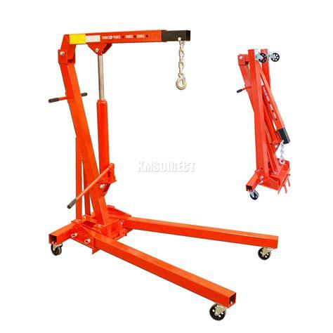 Engine Crane 2 Ton Limited foxhunter 1 ton tonne hydraulic folding engine crane stand hoist lift ebay