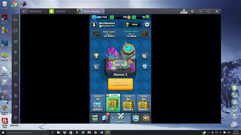 bluestacks online how to play clash royale on your pc windows 7 8 10