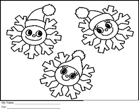 Christmas Snowflake Coloring Pages for Kids ? FITFRU Style