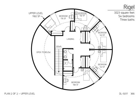 floor plan dl 5017 monolithic dome institute