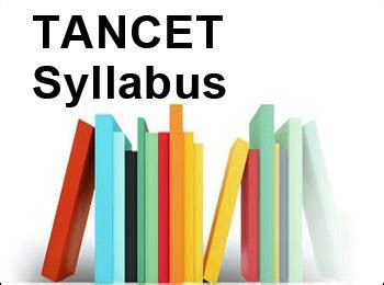 Tancet 2017 Syllabus For Mba by Tancet Syllabus 2018 For Mba Cse Eee Civil Me Pdf