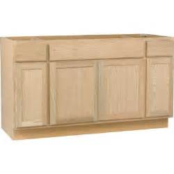 Home Depot Kitchen Sink Cabinet Hton Bay 60x34 5x24 In Sink Base Cabinet In Unfinished Oak Sb60ohd The Home Depot