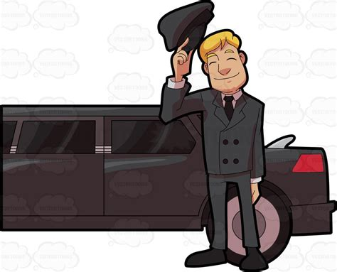 Limo Chauffeur by A Friendly Looking Chauffeur Clipart By Vector
