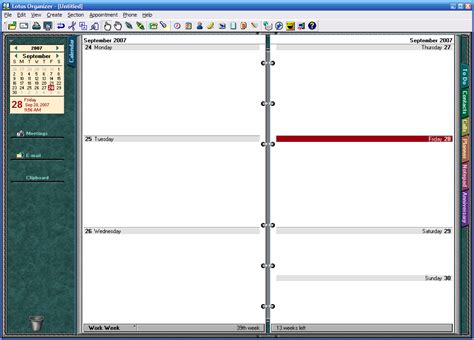 lotus organizer 6 1 ibm lotus organizer software informer screenshots